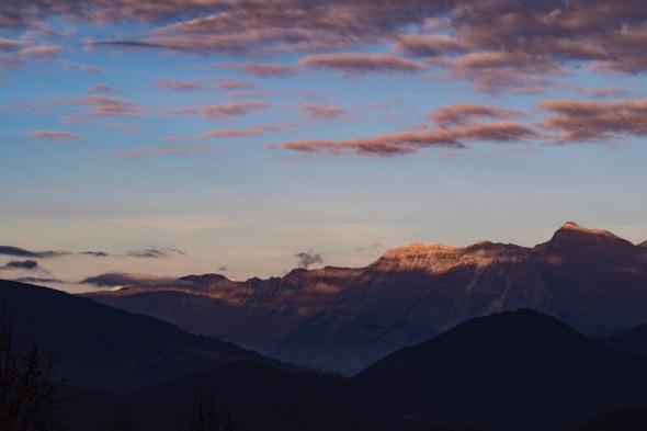 Tramonto sul Monte Nero